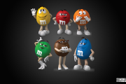 M&Ms Characters Decal set